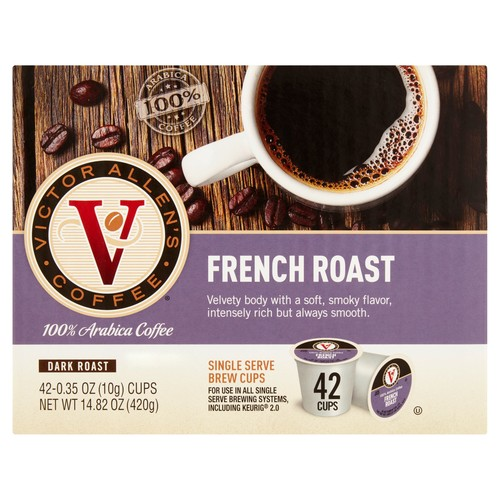 Victor Allens French Roast Coffee (42 Single Serve Cups per Case)
