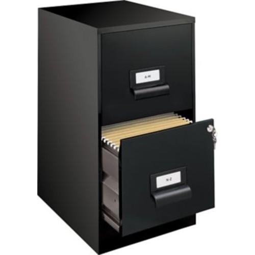 Office Designs 2 Drawer Vertical File, Black,Letter, 14.25''W (13679)