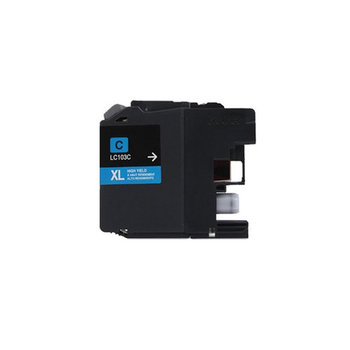 Brother LC103 Cyan Compatible Ink Cartridge (Remanufactured)