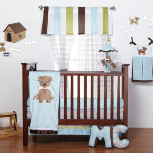 One Grace Place Puppy Pal 3-Piece Crib Bedding Set