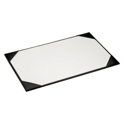Black Leather 38 x 24 Desk Pad with Blotter Paper