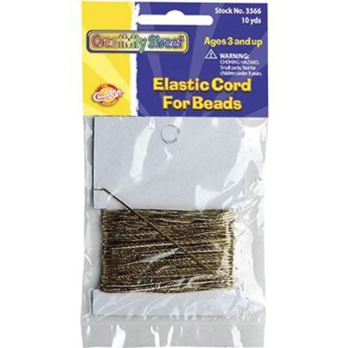 Chenille Craft Elastic Cord, Gold, 10 Yards