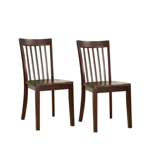 Pilaster Designs - Set of 2 Heavy Duty Solid Wood Dining Room - Kitchen Side Chairs (Cherry)