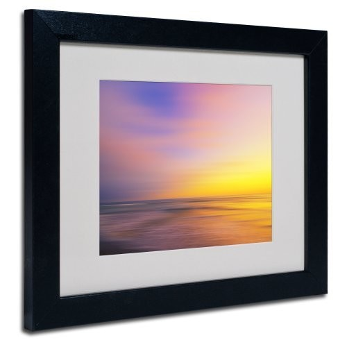 Metallic Sunset Canvas Wall Art by Philippe Sainte-Laudy, Black Frame, 11 by 14-Inch
