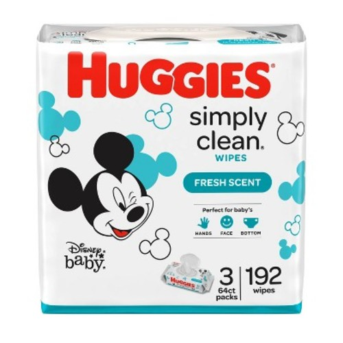 Huggies Simply Clean Fresh Scented Baby Wipes Soft Pack - 216 Count