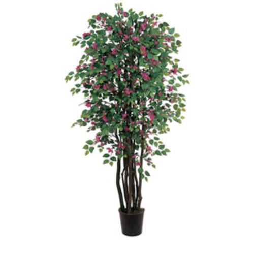 Nearly Natural Artificial Plants 5-foot Dogwood Silk Tree