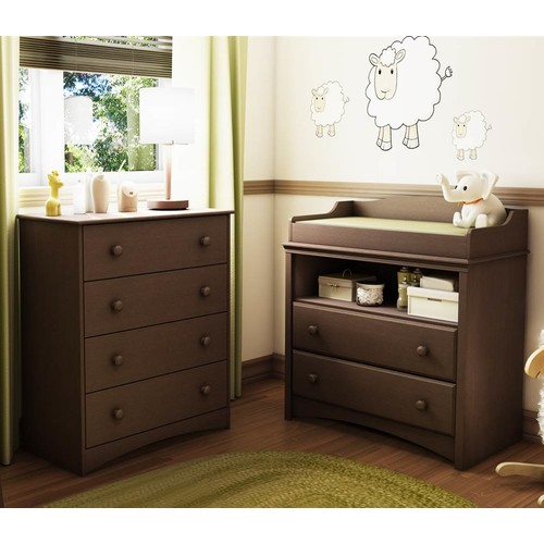 2-Pc Chest & Changing Table Set in Espresso Finish - Angel