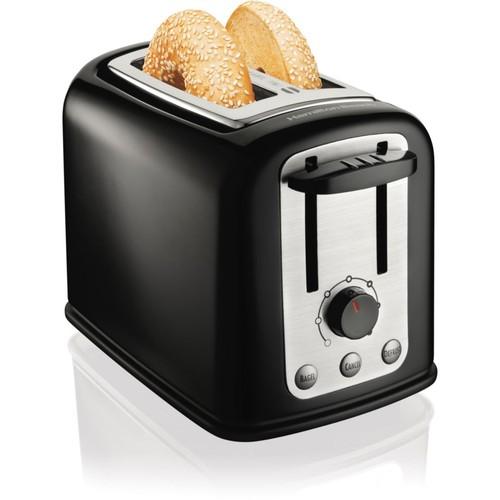 Hamilton Beach SmartToast Extra-Wide Slot 2 Slice Toaster; Black/Silver
