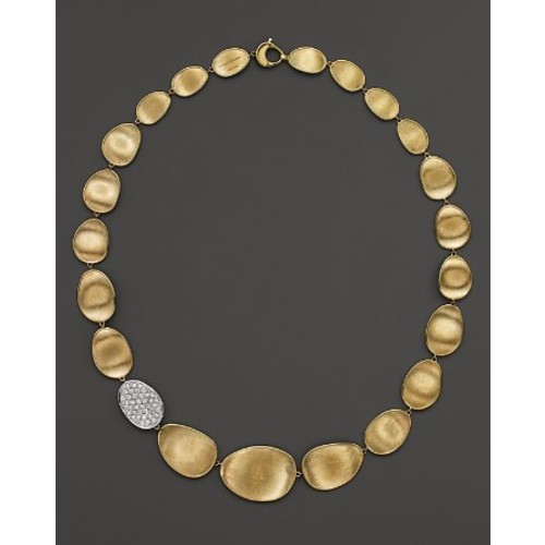 Diamond Lunaria Collar Necklace in 18K Gold, 16.5