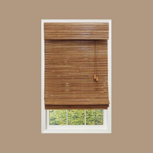 Home Decorators Collection Honey Bamboo Weave Roman Shade - 67.5 in. W x 72 in. L