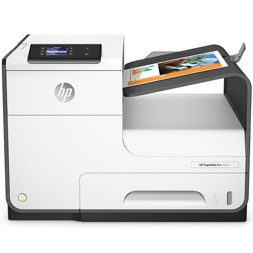 HP Inc. PageWide Pro 452dn - Printer - color - Duplex - page wide array - A4/Legal - 1200 x 1200 dpi - up to 55 ppm (mono) / up to 55 ppm (color) - capacity: 500 sheets - USB 2.0, LAN, USB 2.0 host (D3Q15A)