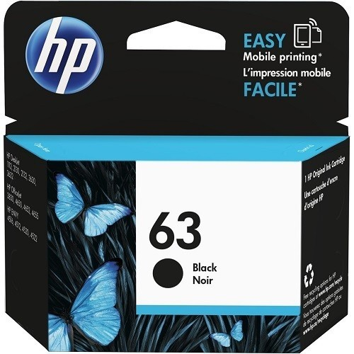 HP Inc. 63 Black Original Ink Cartridge (F6U62AN#140)
