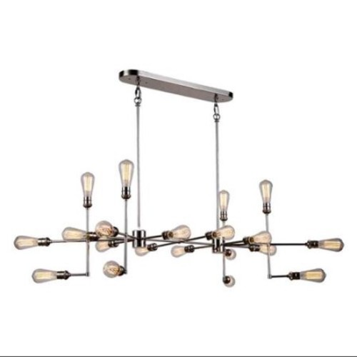 20-Light Pendant Lamp in Polished Nickel Finish