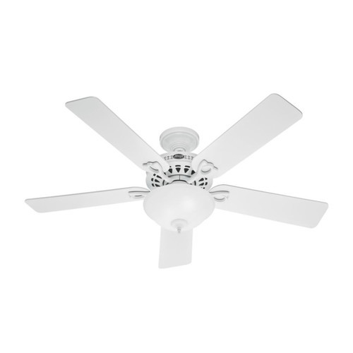 Hunter Astoria 52 in. Indoor White Ceiling Fan with Light Kit