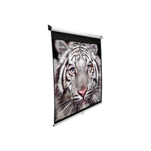 Elite Screens M113NWX-SRM Manual SRM Ceiling/Wall Mount Manual Pull Down Projection Screen (113