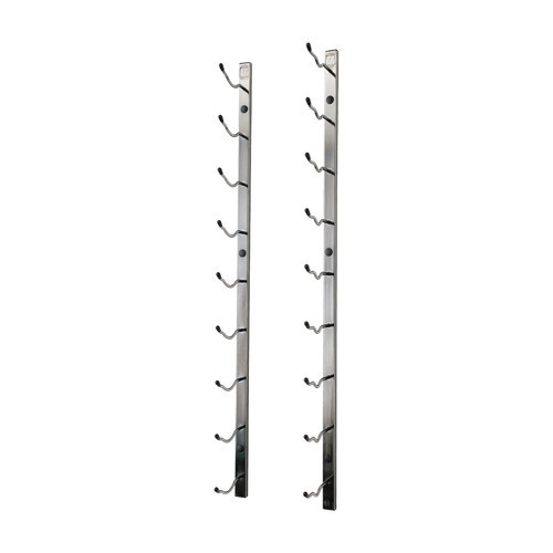 Wall Series 9 Bottle Wall Mounted Wine Rack by VintageView [Finish : Black Chrome]