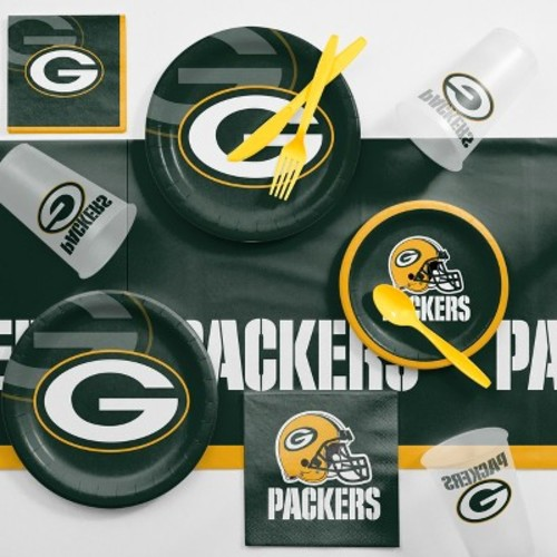 NFL Green Bay Packers And Game Day Party Supplies Kit