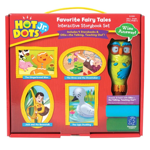 Educational Insights Hot Dots Jr. Favorite Fairy Tales Interactive Story Book Set with Ollie Pen