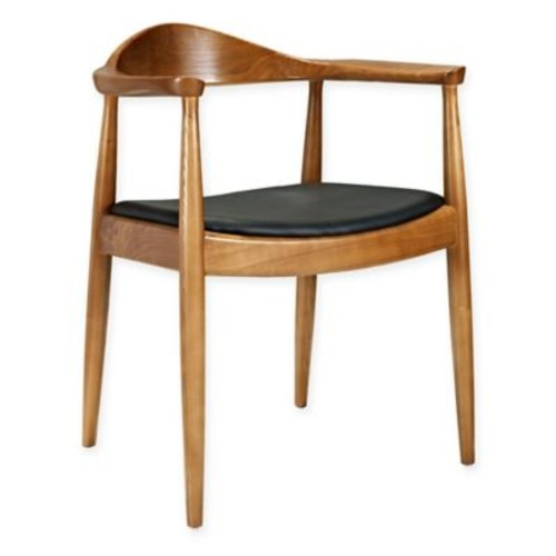 Modway Wood Presidential Dining Chair in Black