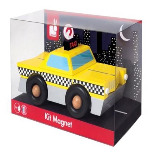 Janod Taxi Magnet Kit - 9 Piece