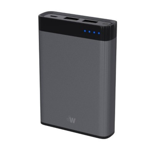 Portable Power Bank 8000 mAh Space Gray - Just Wireless