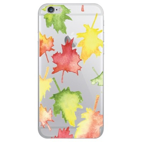 iPhone 6/6S/7/8 Case Hybrid Falling Leaves Clear - OTM Essentials