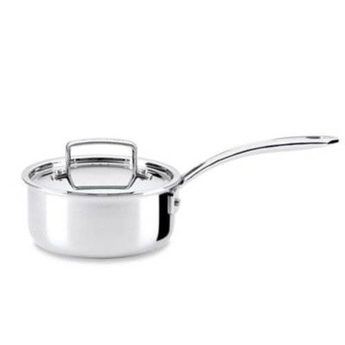 The French Chefs 5-Ply Stainless Steel 1.5 qt. Covered Saucepan