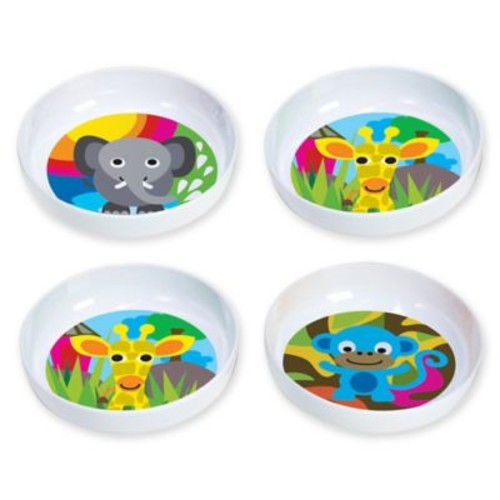 French Bull Jungle Kids' 4-Piece Bowl Set