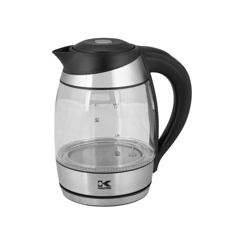 Kalorik - Electric Kettle - Black/stainless steel