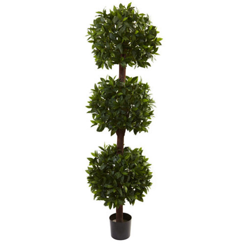 Nearly Natural 6.5-ft. Sweet Bay Triple Ball Topiary