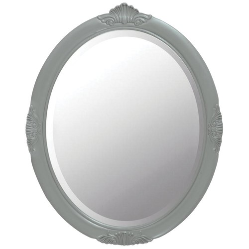Home Decorators Collection Winslow 30 in. W x 37 in. H Framed Wall Mirror in Antique Grey
