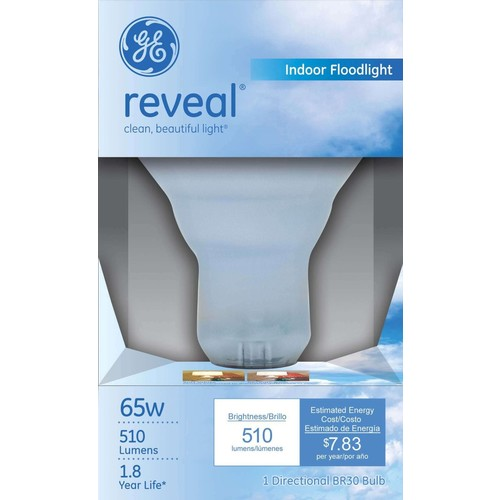 GE Indoor Flood, 65 Watts, R30 1 bulb