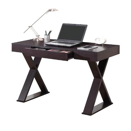 Techni Mobili Trendy Desk with Drawer - Espresso