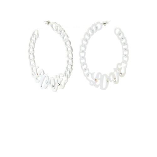 Love Chain Hoop Earrings