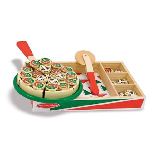 Melissa & Doug Pizza Party Wooden Play Food Set With 54 Toppings [Standard Version]