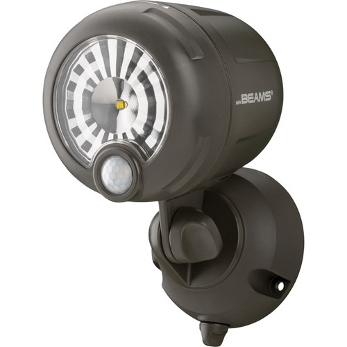Mr. Beams Motion-Activated Wireless LED Spotlight  200 Lumens, Brown,
