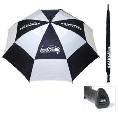 Team Golf Seattle Seahawks 62-inch Double Canopy Golf Umbrella
