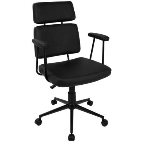 Lumisource Sigmund Contemporary Adjustable Office Chair in Black (OFC-AC-SIGMD BK)