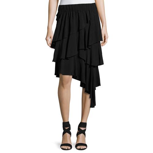 ETOILE ISABEL MARANT Weez Asymmetric Layered Skirt, Black