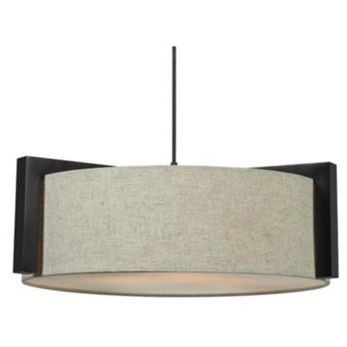 Kenroy Home Teton 3-Light Pendant in Oil Rubbed Bronze
