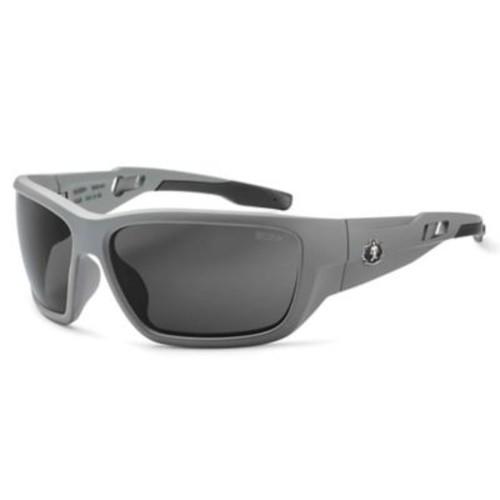 Skullerz BALDR-AF Safety Glasses, Anti-Fog Smoke Lens, Matte Gray (57133)