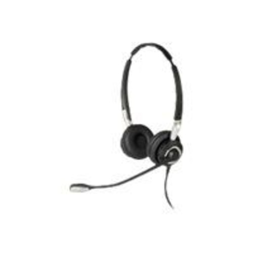 Jabra BIZ 2400 II Over-the-Head Stereo Bluetooth Headset with Noise-Cancelling Microphone, Black
