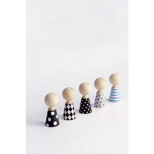 Modern Pebbles Peg Dolls