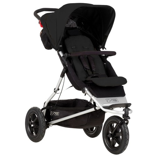 Mountain Buggy +One Stroller with Second Seat & Cocoon, Black [Black]