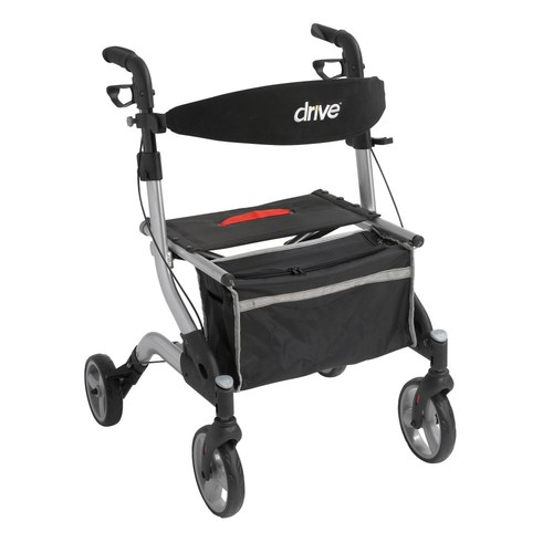 Drive Medical iWalker Euro Style Rollator, Silver