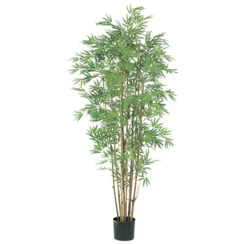 Pack of 2 Potted Artificial Japanese Bamboo Trees 5' - Green