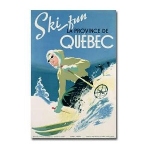 Trademark Fine Art 22 in. x 32 in. Skiing in Quebec 1938 Canvas Art