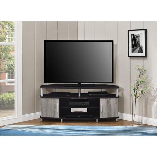 Ameriwood Home Carson 50-inch Espresso/ Sonoma Oak Corner TV Stand