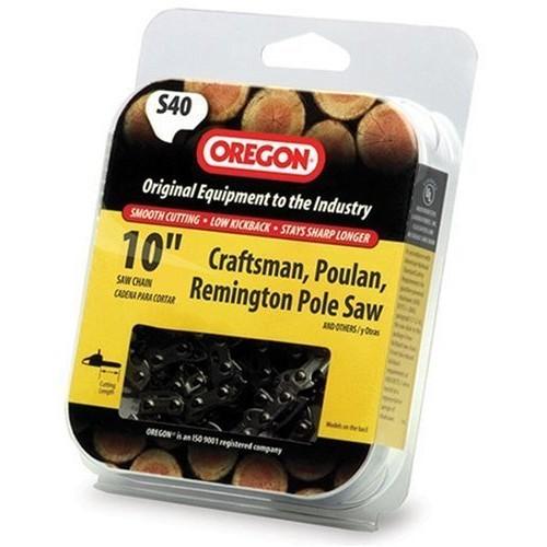 Oregon S40 10-Inch Semi Chisel Chain Saw Chain, Fits Craftsman, Poulan, Remington [1]