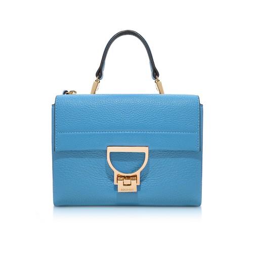 Sky Blue Pebbled Leather Arlettis Mini Bag w/Shoulder Strap